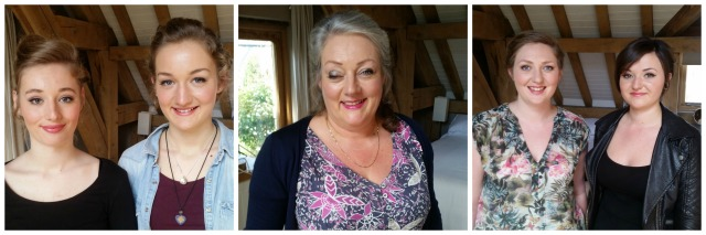 Annas bridemaids and mum wedding make up by Grace Kingsley
