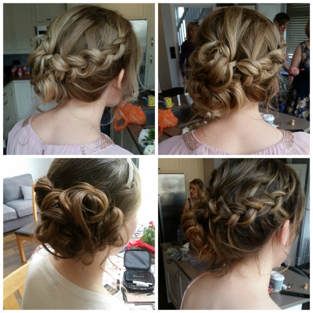 beckys bridesmaids wedding hair by grace kingsley