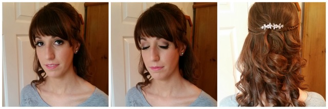 Blancas bridesmaid wedding hair and make up by grace kingsley