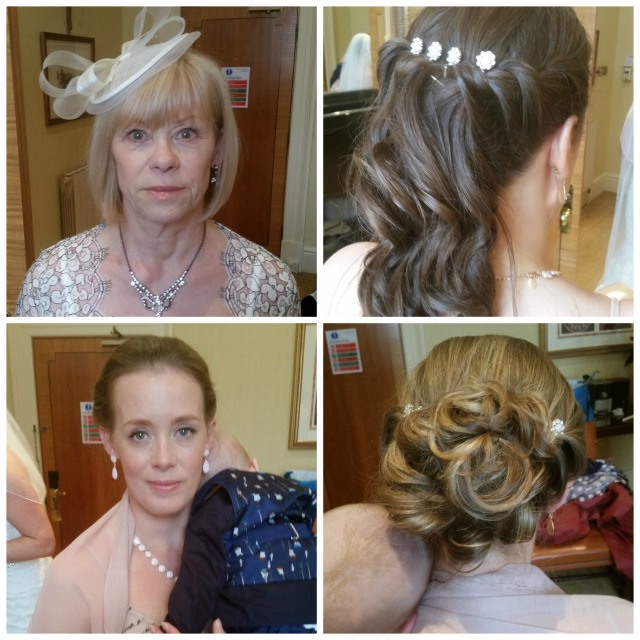 claire bridesmaid and mum wedding hair and make up by grace kingsley