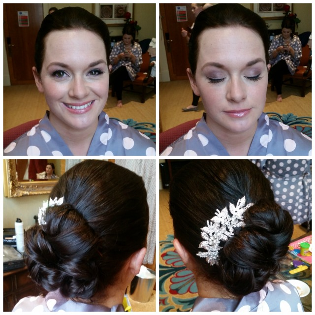 Claire wedding hair and make up by grace kingsley