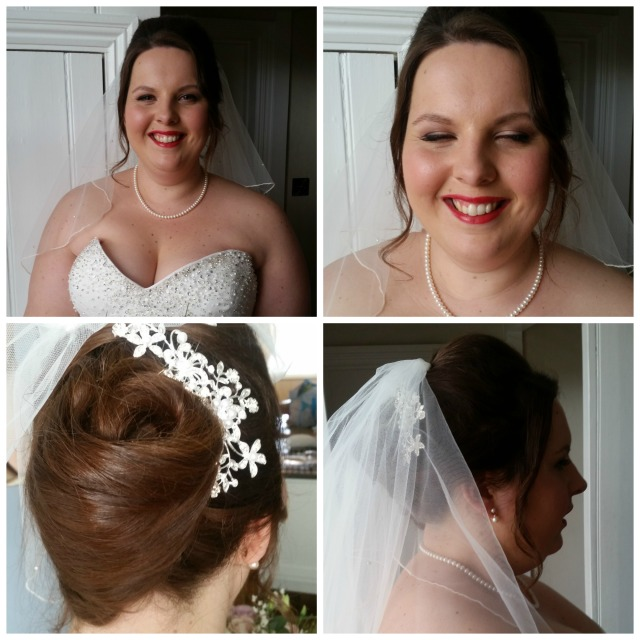 Hannah Bridal hair and mek up by Grace Kingsley